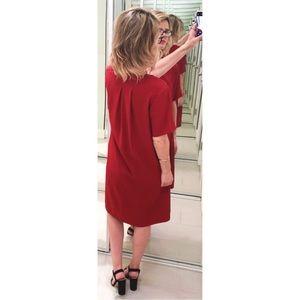 ccdf663499 Everlane Dresses - Everlane GoWeave Short-Sleeve A-Line Dress Crimson